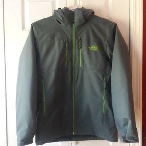 Men's North Face gray & Green jacket-med.